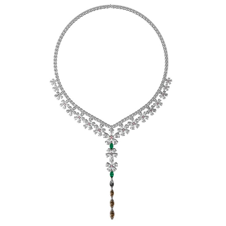 Haute couture Magnolia necklace.