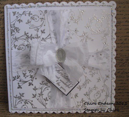 Made by Chloe using Stamps by Chloe Holly Scroll Christmas the most wonderful time