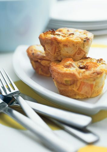 Mini frittatas make a welcome change from sandwiches at lunchtime.