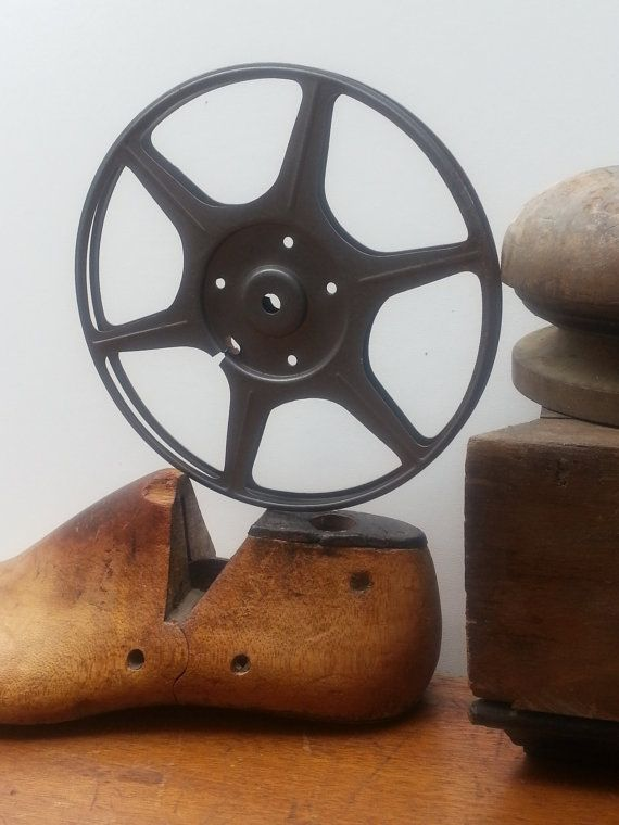 Vintage Metal Movie Reel Marked Compco Corp Chicago Ill Industrial Decor Game Theater Room Decor