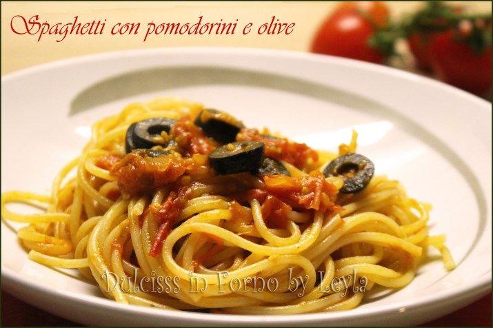 Spaghetti pomodorini e olive, ricetta Mediterranea