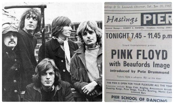 The final five piece Floyd concert took place today in 1968, at the Pavilion Ballroom, Hastings Pier.
