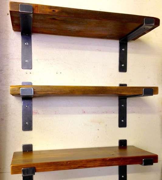 11 Gorgeous Cherry Wood Wall Shelves Collection Reclaimed Wood Shelves Shelves Metal Shelf Brackets