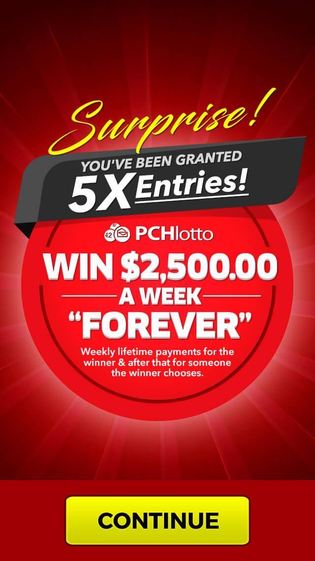 PCH Lotto | Entries Week | Rafael Selvera Sr JOB42:10 in