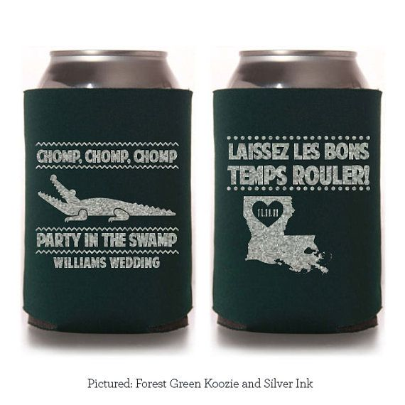 263 best new orleans wedding images on pinterest new orleans Wedding Koozies Lafayette La chomp chomp chomp party in the swamp custom koozie wedding favor party gift personalized louisiana laissea les bons temps rouler! Rustic Wedding Koozies