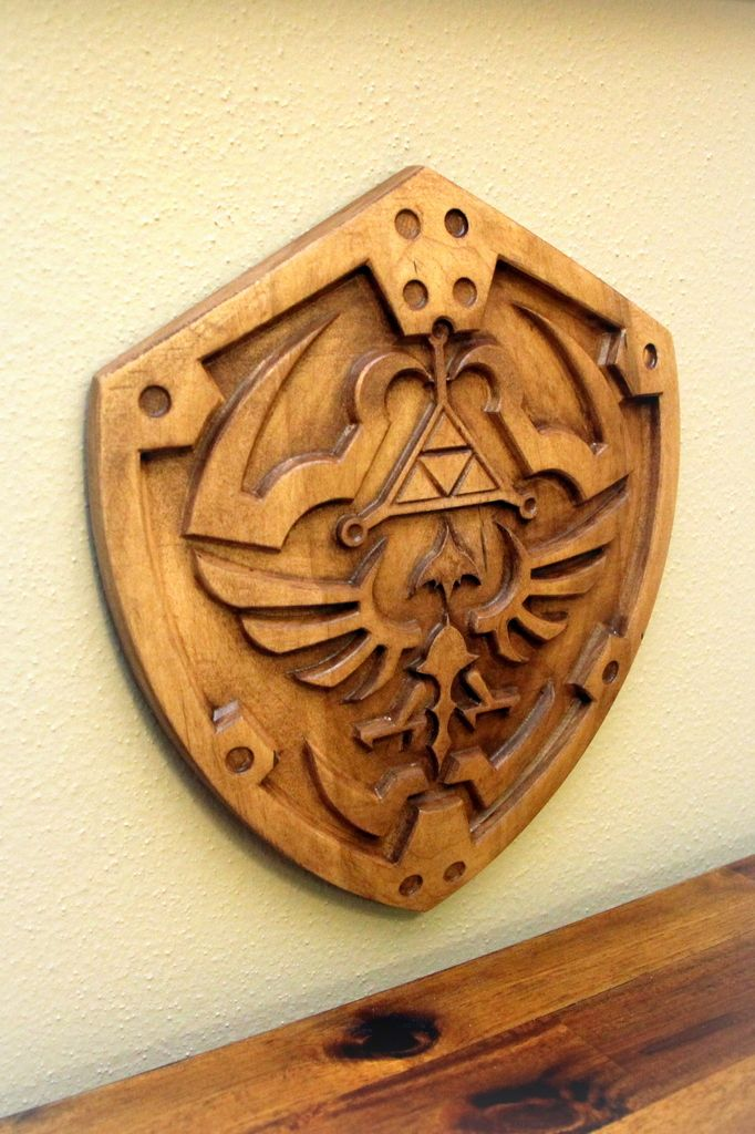 Wooden Hylian Shield #HylianShield #Zelda