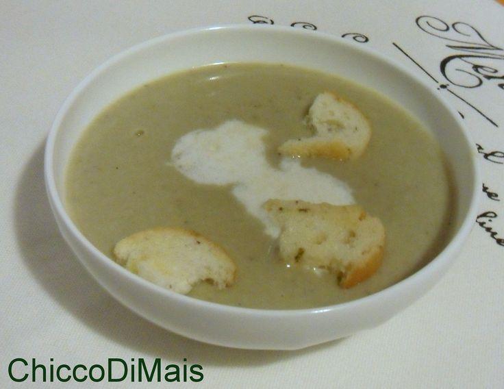 Vellutata di carciofi ricetta light il chicco di mais http://blog.giallozafferano.it/ilchiccodimais/vellutata-di-carciofi-ricetta-light/