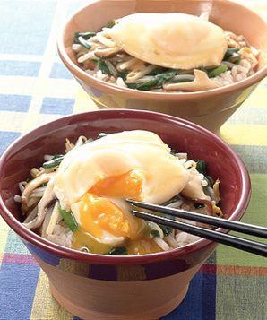 揚げ卵のにらともやしのあんかけ丼   樋口秀子さんのレシピ【オレンジ ...