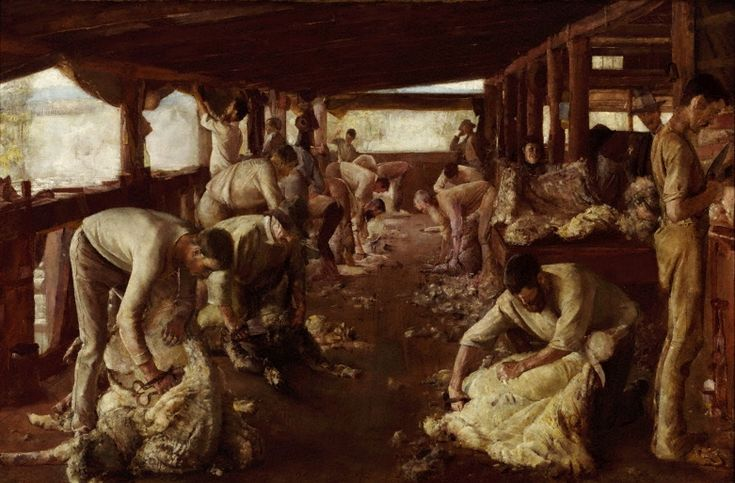 The Golden Fleece, (1894) by Tom Roberts :: The Collection :: Art Gallery NSW