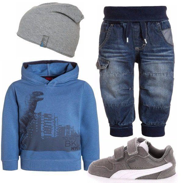 Si sa, ai maschietti piace essere sempre comodi e sportivi e, per una giornata al parco con gli amici, l'abbigliamento ideale è composto da jeans comodi, ovviamente scarpe da ginnastica, una bella felpa colorata e, per finire, un bel berrettino sportivo che è anche alla moda.