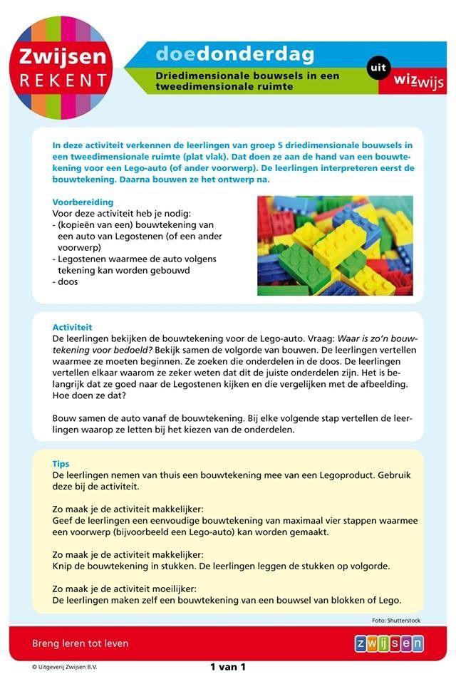 Driedimensionale bouwsels in een tweedimensionale ruimte (groep 5)