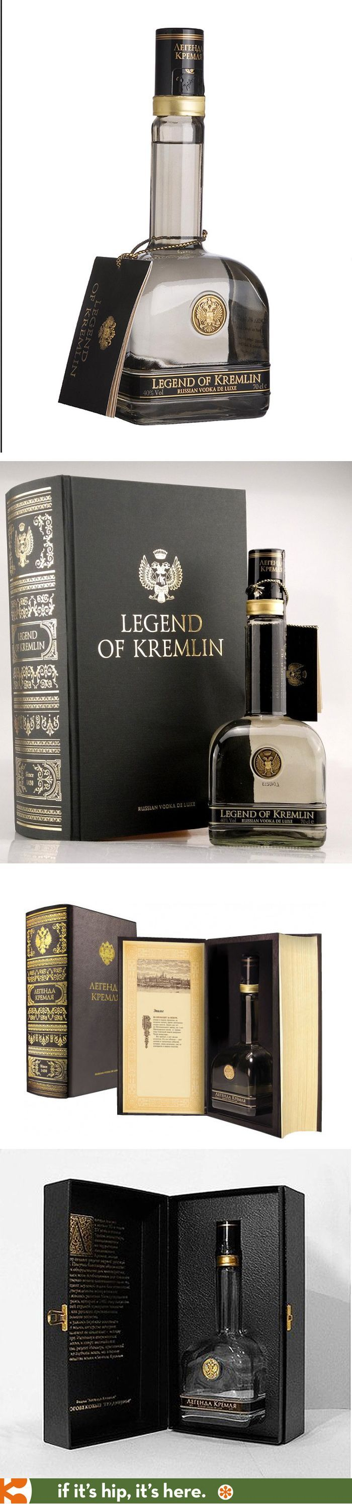 Legend Of Kremlin premium Vodka's special Book Packaging for the US and Russia.. Beautiful booze #packaging PD