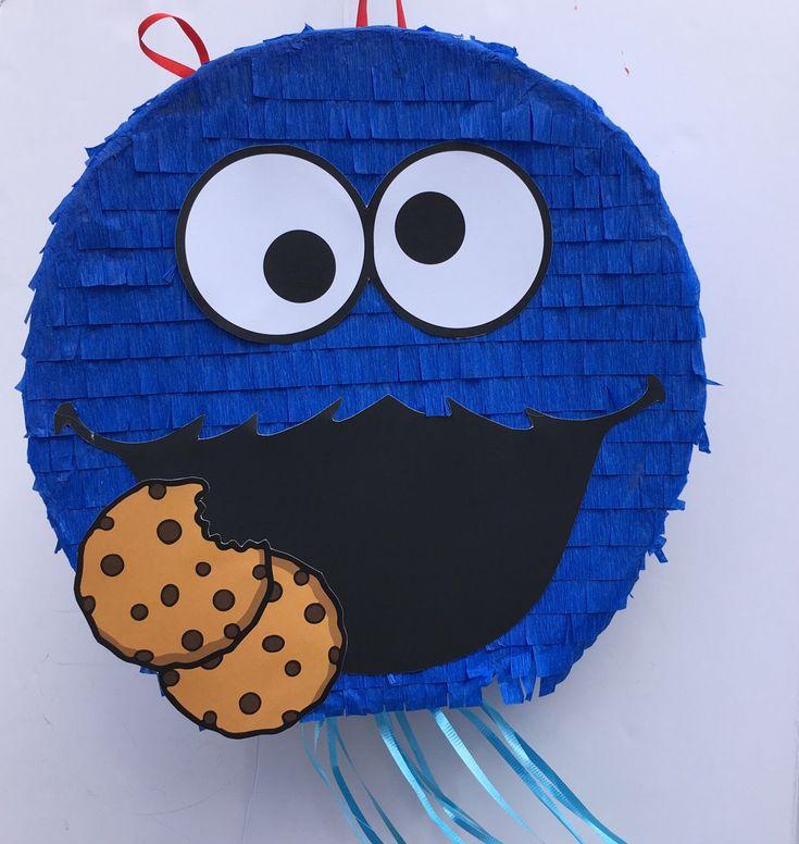 Partido de COOKIE MONSTER PINATA, Sesame Street, tire de cadena Piñata, Monstruo de las Galletas, Coco cumpleaños, fiesta de TRUSTITI en Etsy https://www.etsy.com/es/listing/512089235/partido-de-cookie-monster-pinata-sesame