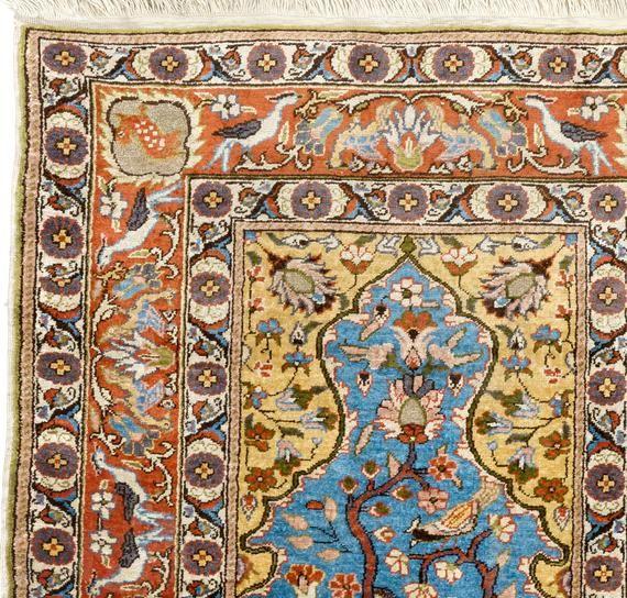 2.3×3.8 Ft One of a kind Vintage Turkish Village Rug. Decorative Handmade SILK carpet. Ideal for tim