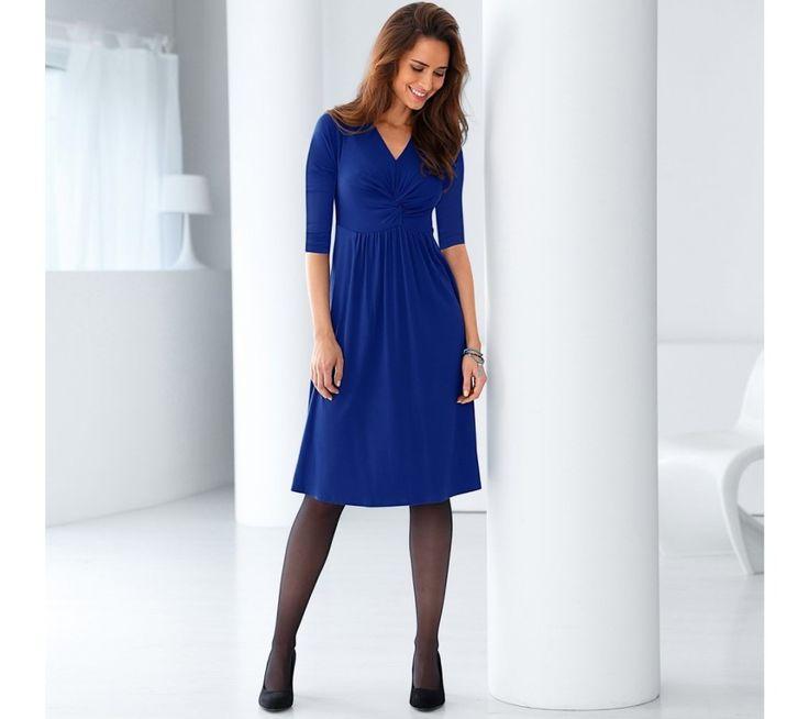 Jednofarebné úpletové šaty s 3/4 rukávmi | blancheporte.sk #blancheporte #blancheporteSK #blancheporte_sk #dress #saty