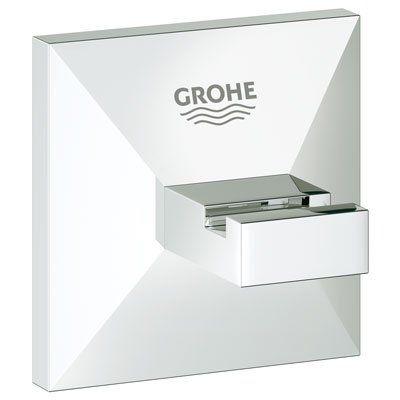 Grohe 40 498 Allure Brilliant Brass Robe Hook Starlight Chrome Accessory Robe Hook Single