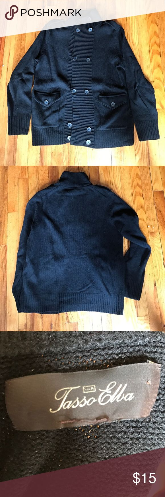 Men's Cardigan Sweater Double Breasted. Pre-Loved. Size Large Sweaters Cardigan