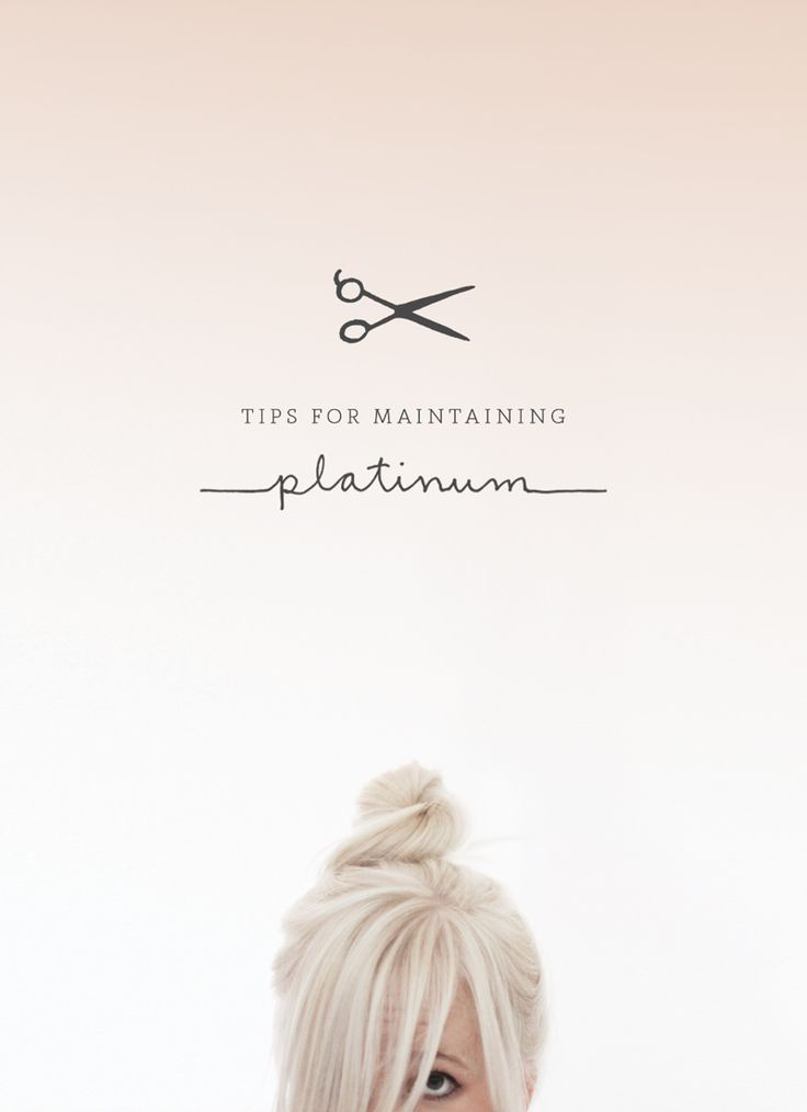 I sooo want to do this but my hair is medium brown & really long, it'd take forever to grow out but really tempted >> Tips for maintaining platinum hair.