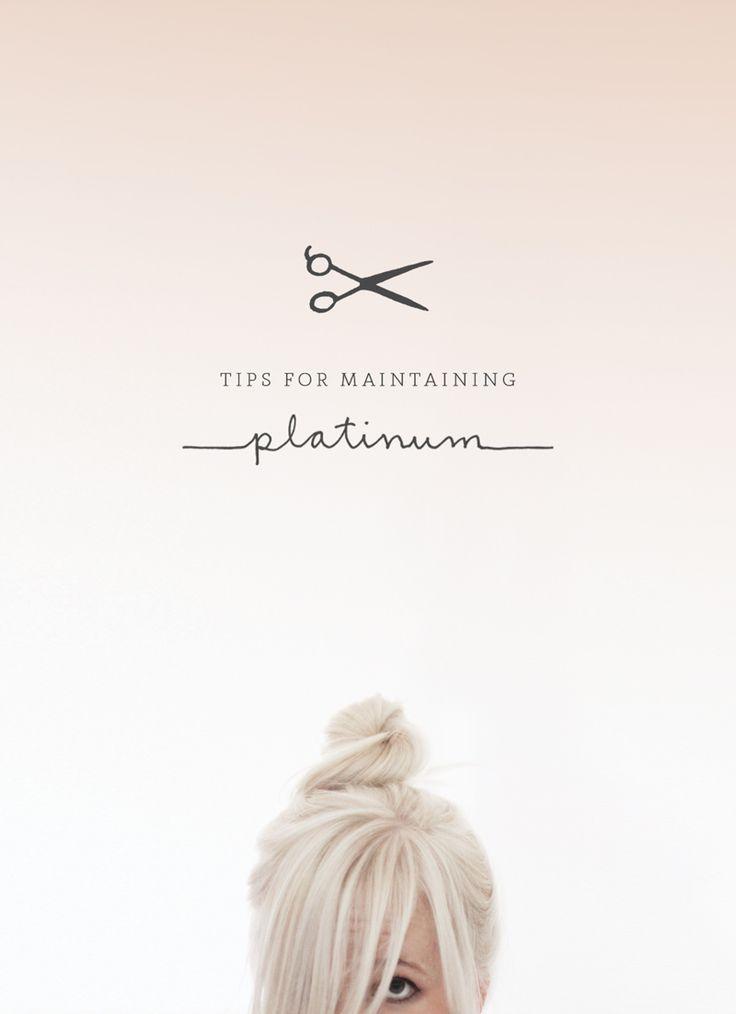 Tips for maintaining platinum hair