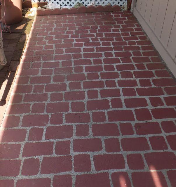 DEBBIE-DABBLE: Faux Brick Patio Revisited 2013
