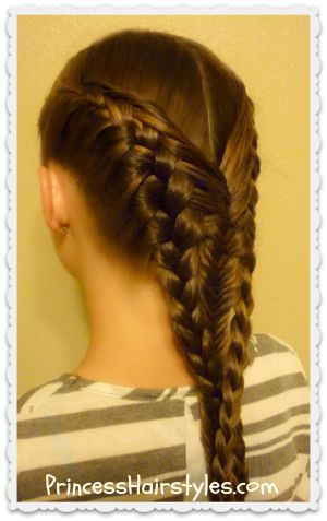 "Hair; How to | ""Diving Mermaid Braid"" Tutorial.   A French Braid & Fishtail Braid Combo"