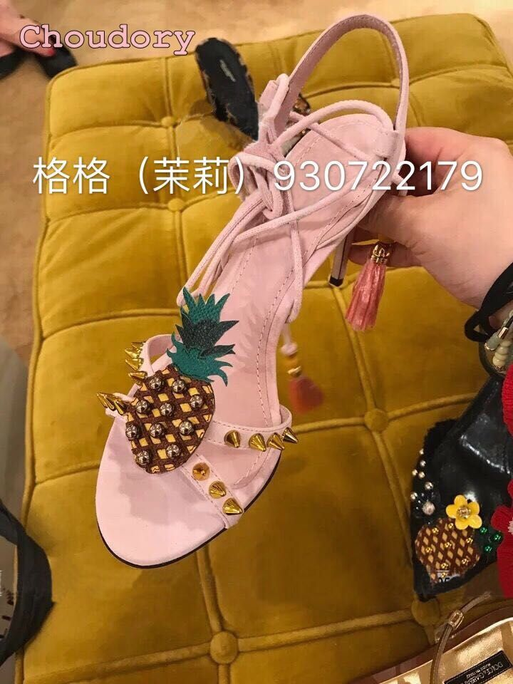 >> Click to Buy << New pink embroidery pineapple tassel sandals open toe high heel woman sandals rivets young girls shoes summer sandals on sale #Affiliate