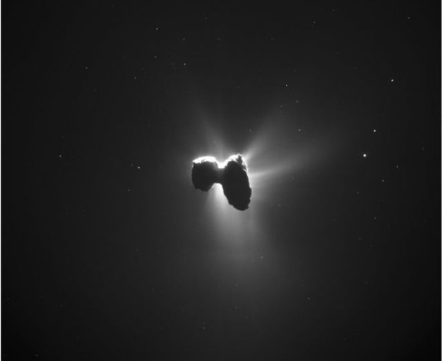 Rosetta Caught a Gorgeous Glimpse of Its Comet Crossing in Front of the Sun