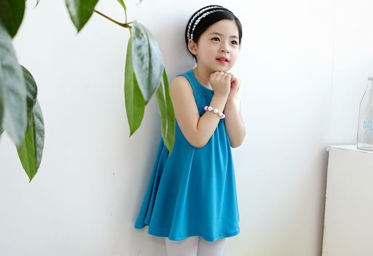 Korea children's No.1 Shopping Mall. EASY & LOVELY STYLE [COOKIE HOUSE] Sunny not Kaoru One Piece / Size : 5 ~ 19 / Price : 11.32 USD #dress #onepiece #ribbon #cute #koreakids #kids #kidsfashion #adorable #COOKIEHOUSE #OOTD
