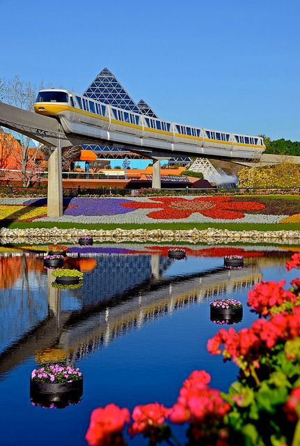 Walt Disney World #Epcot #Monorail...2002 2005 2006 2014, ready for vist number 5!