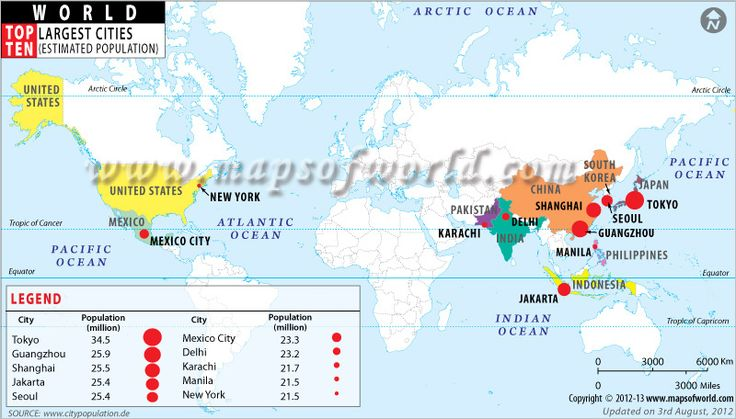 18 best world map images on pinterest maps custom map and cards world top ten largest cities gumiabroncs Image collections