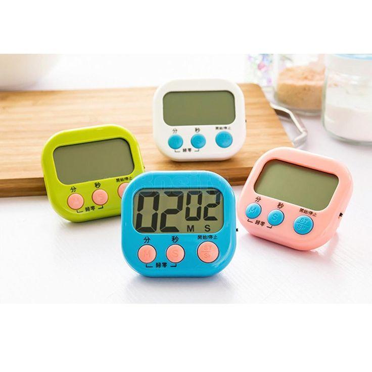 Digital Lcd Kitchen Cooking Countdown Timer Baking Stopwatch Racing Alarm Clock