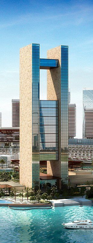 Four Seasons Hotel, Manama, Bahrain designed by Skidmore, Owings & Merrill (SOM) Architects :: 50 floors, height 269m