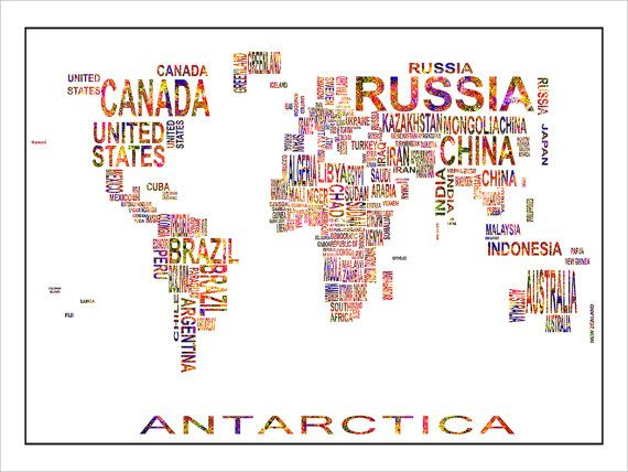 8 best best world maps prints available on etsy images on pinterest country names world map gumiabroncs Gallery