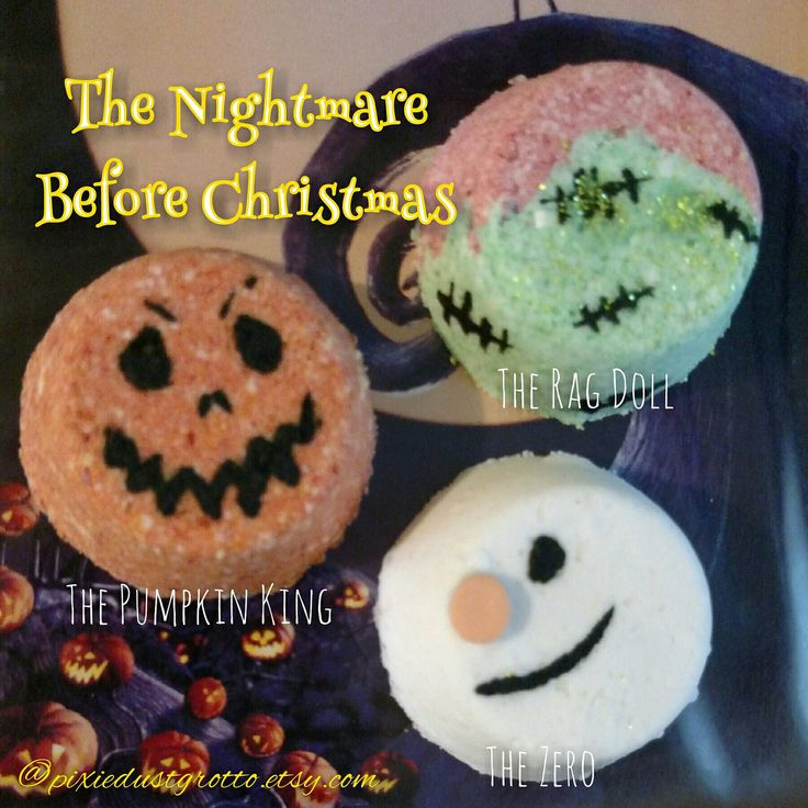 We just released a second set of the nightmare before christmas inspired bath bombs! Check them out! Jack skellington pumpkin king Sally zero