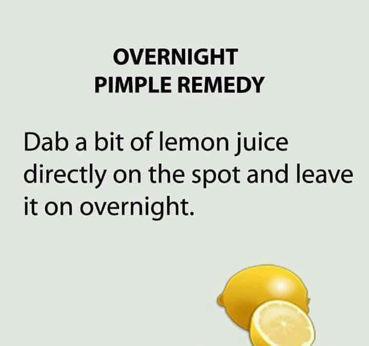 Overnight pimple remedy