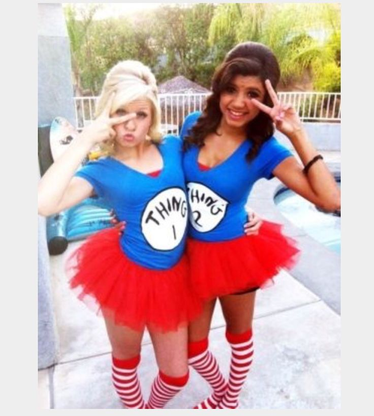 Thing 1 and Thing 2 costume idea  Perfect for twin day at school. 329 best Halloween Costumes images on Pinterest   Costume ideas