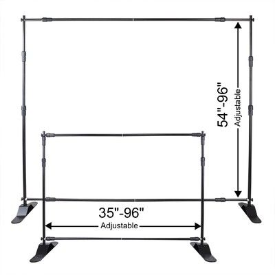 8x8' Telescopic Banner Stand Adjustable Display Trade Show Expandable Backdrop | eBay