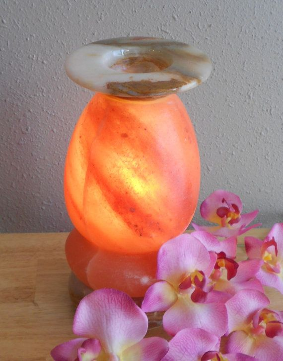 Himalayan Salt Lamps And Essential Oils : Himalayan Salt Lamp electrical Diffuser by SaltMineArium on Etsy essential oils Pinterest ...