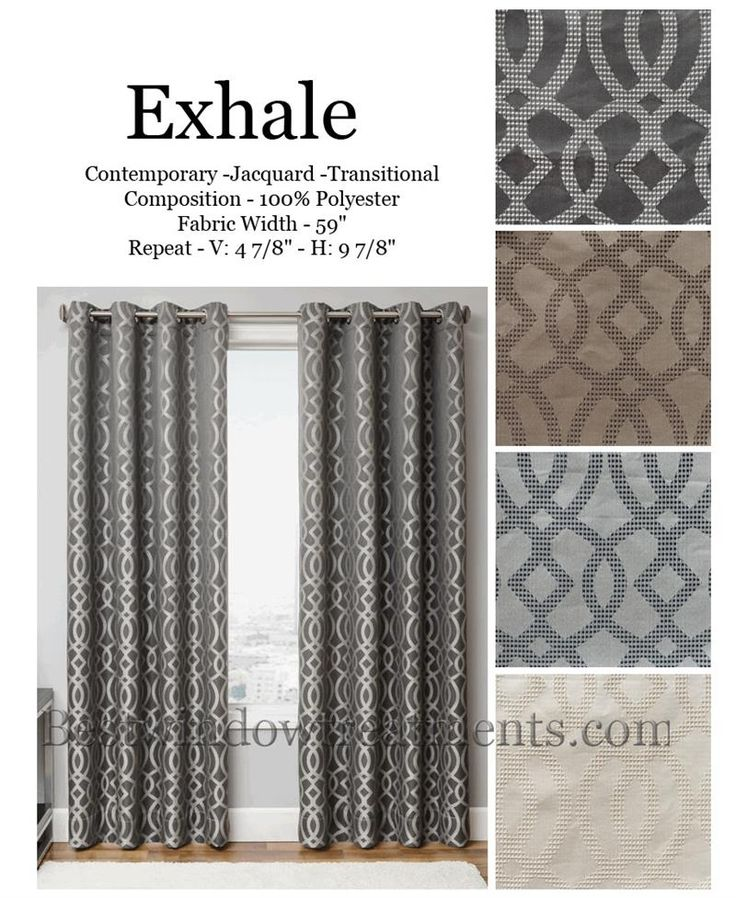 Exhale Curtain Panel In A Quatrefoil Design Available 4 Colors