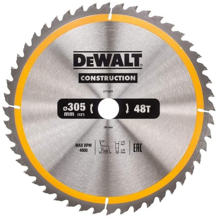 Dewalt Dt1959 Qz Dt1959 Qz Hoja Para Construccion 305x30mm 48d Yellow Black In 2020 Circular Saw Blades Dewalt Circular Saw Saw Blade