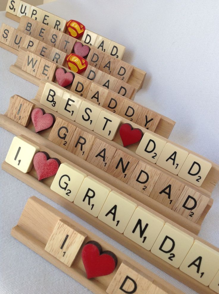 Father's Day/Dads Birthday/Grandad Vintage/New Wood Scrabble www.facebook.com/Funkyjunk.Upcycled.UK