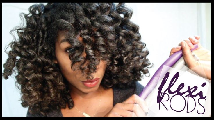 How To Cheat A Flexi Rod Set | EASY Technique Heatless Curls - Naptural8...