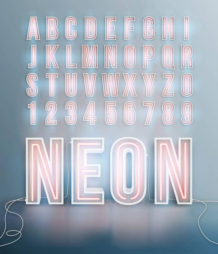 "Cute LED signs for store decor? ""Neon Lights Selection on Fotolia – Fubiz Media"""