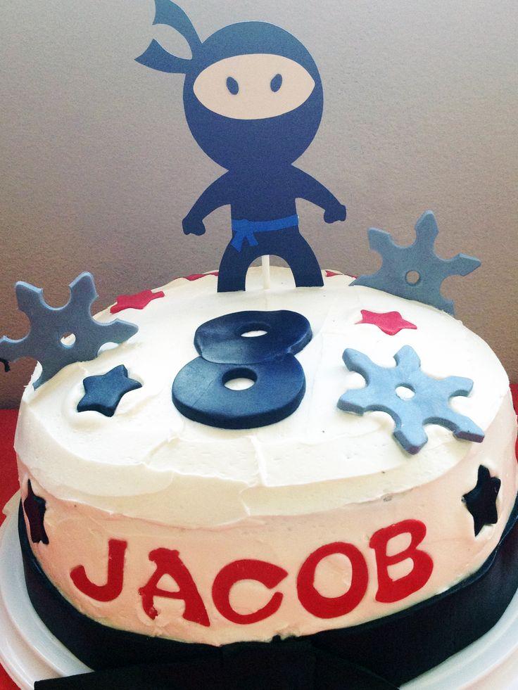 Martial Art Cake Ideas : Ninja Cake! Ninja birthday cake martial arts, tae kwon do ...
