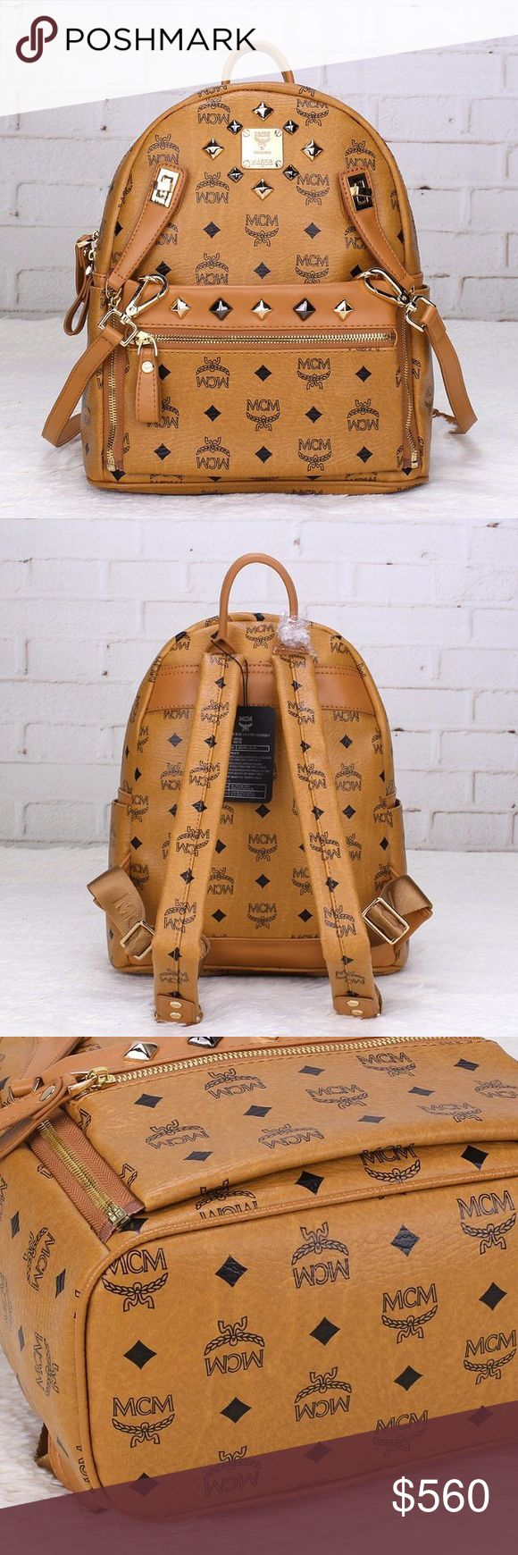 MCM Bookbag ****ONLY ACCEPTING ORDERS ONLINE AT WWW.BAGSOFFICIAL.BIGCARTEL.COM | Please don't ask obvious questions, price reflects. Real leather! 🚨💥NEW INVENTORY 💥🚨 $414.00 MCM Bags Backpacks