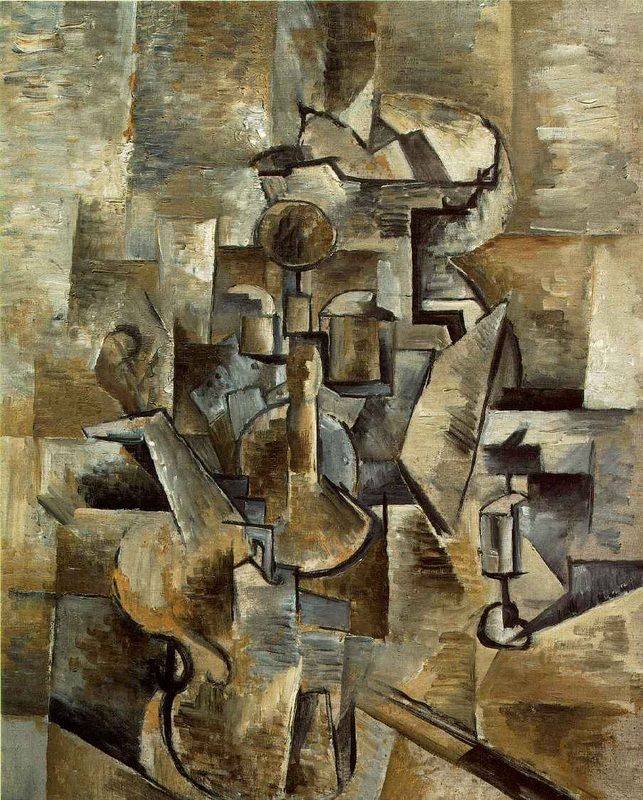 Violin and Candle stick is Georges Braque's masterpiece.