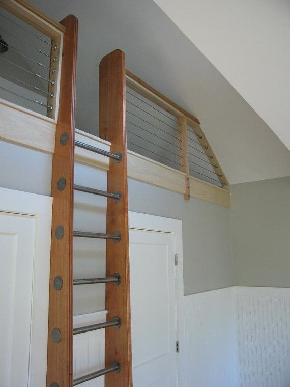 garage conversion ideas with staircase - Ship s Ladder for Loft Library Attic Custom Built