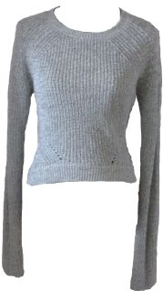 Cropped sweater provides a sneak peek at your midsection without showing it all!