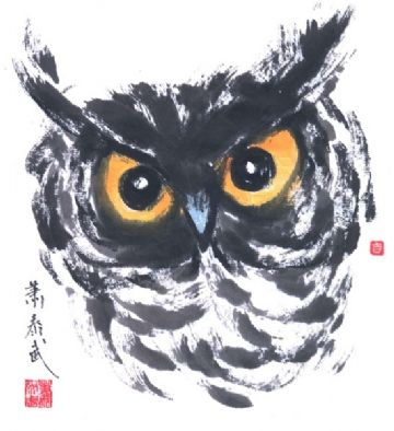 OWL - Ink Painting