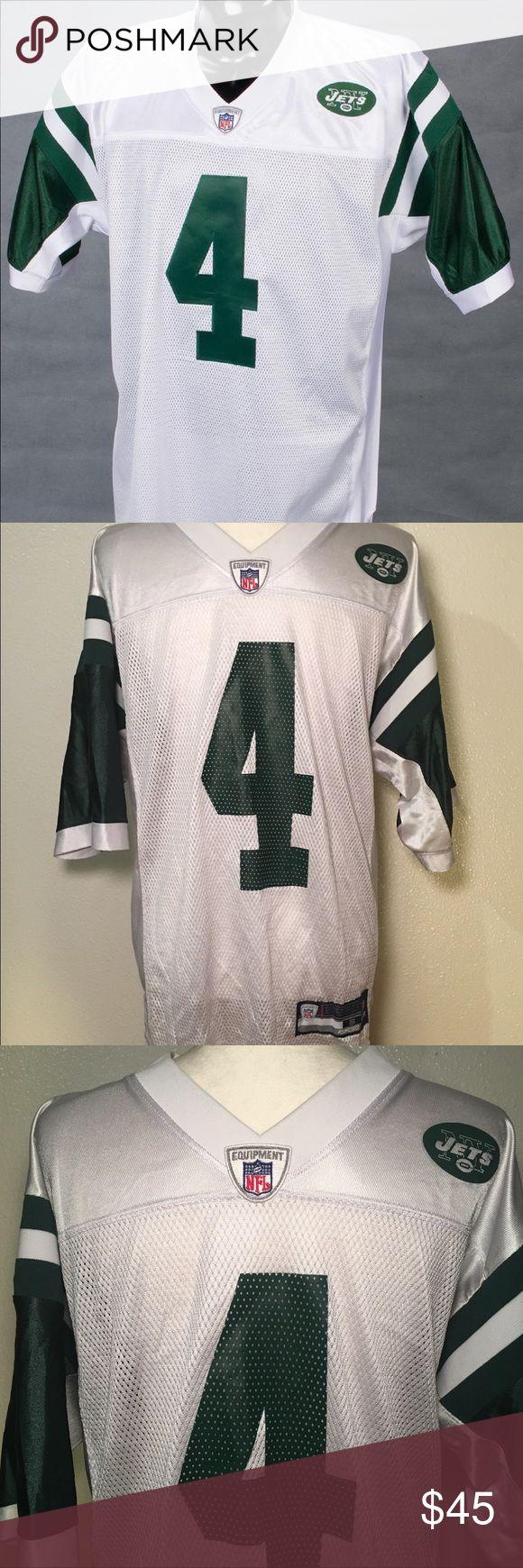 Brett Favre Authentic Reebok Jets NFL Jersey Brett Favre Authentic Reebok White Jets road jersey Reebok Other